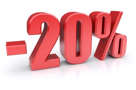 remise 20%